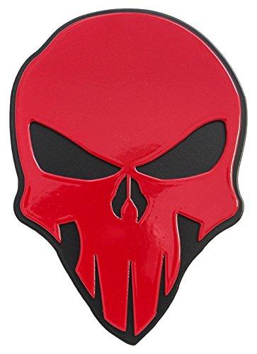 All Sales 1042RK Abdeckung für Anhängerkupplung, Totenkopf-Design, Rot auf Schwarz, 2 inch