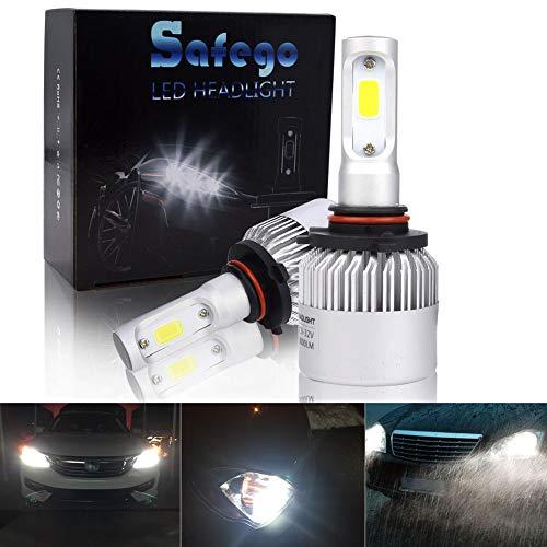 Safego 2x 9005 HB3 LED Ampoule de Rechange LED Phare Kit de conversion Auto Véhicule Conduire Lampe Feux Lumiere Pour Voiture Automobile véhicule Blanc Pur 6000K CC 12V