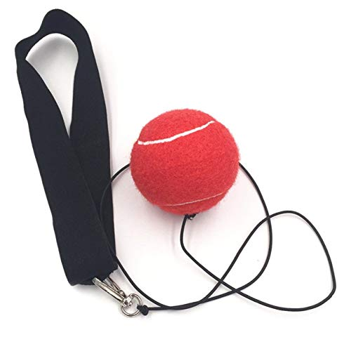 fengzong Eubi E302 Elastizität Stirnband mit Boxausrüstung Kampfballtraining Geschwindigkeitsball Muay Thai Trainer Schnellstanzen (rot)