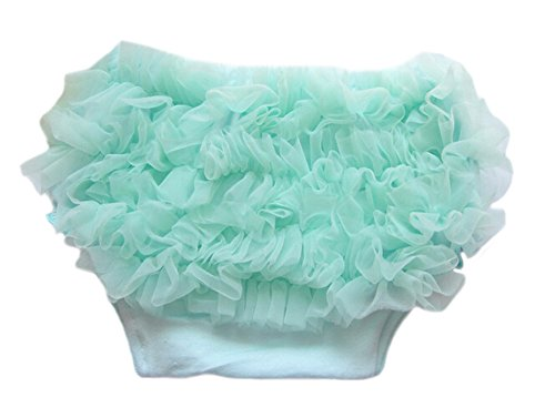 DELEY Bébés Filles Dentelle Solide Pettiskirt Ruffle Bloomers Slips Culottes Nappy Couvre-Couches Blue Light M