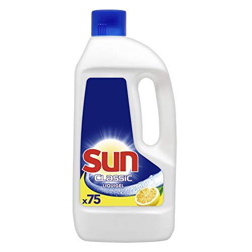 SUN Liquide de Lavage Lave-Vaisselle Classic Citron x75, Formule Concentrée, Vaisselle Impeccable, Dosage Facile, 1,5 L 75 Doses