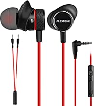Innens 3.5 MM Wired Gaming Earphone, Noise Cancelling Stereo Bass Gaming in-Ear Earbuds with Mic and Volume Controls for iPhone, Smartphone, Switch, PS4, Xbox One, iPad, PC (Red)