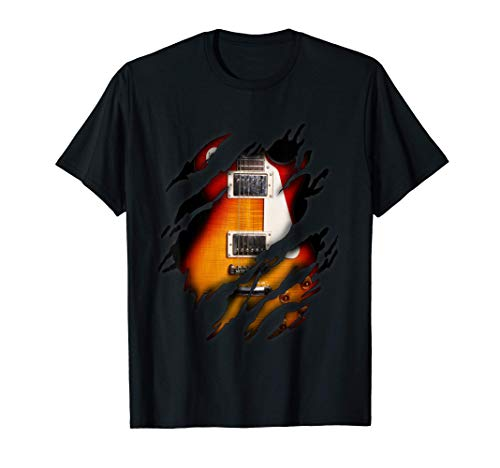E-Gitarre in mir Design, Gitarre T-Shirt