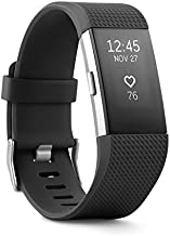 Fitbit Charge 2 Heart Rate + Fitness Wristband, Black, Small (US Version), 1 Count
