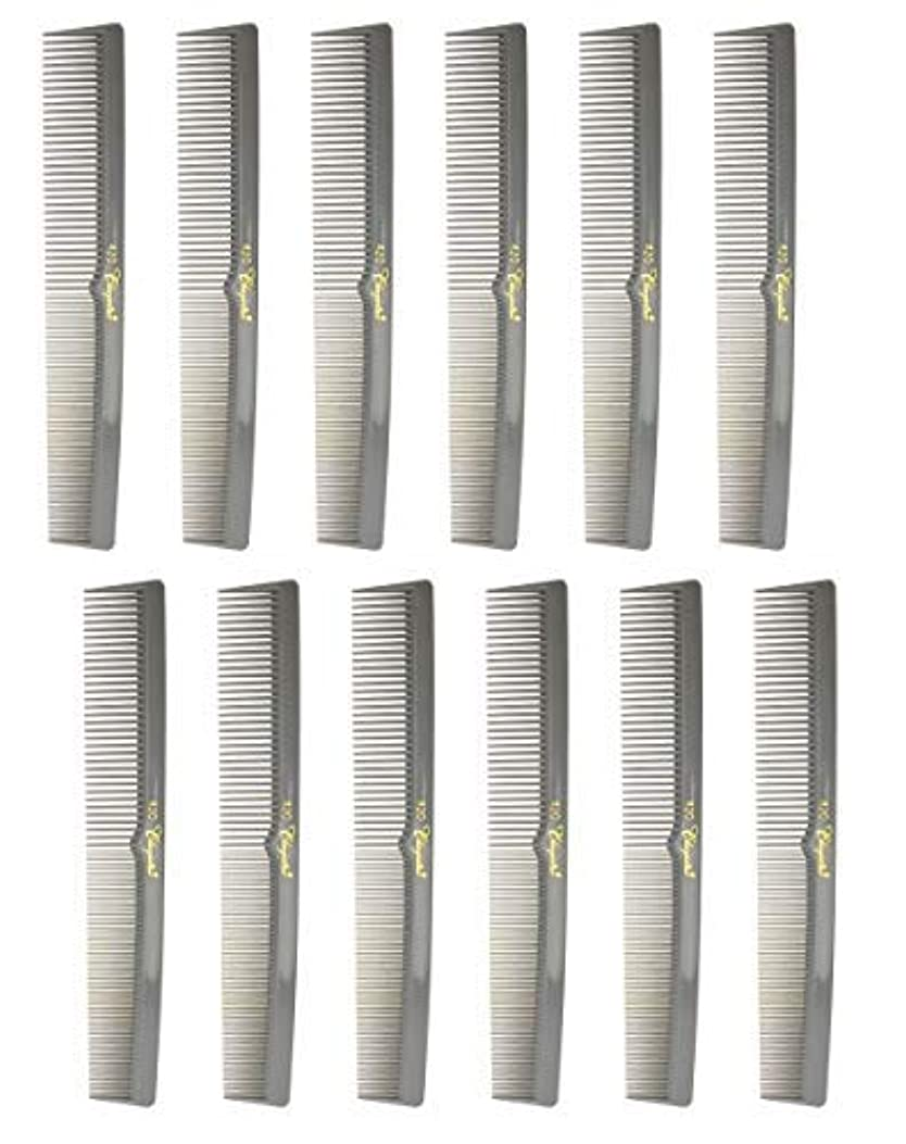 大宇宙緊張する分析する7 Inch Hair Cutting Combs. Barber's & Hairstylist Combs. Gray. 1 DZ. [並行輸入品]