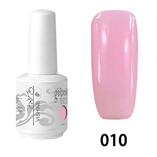 Vishine Vernis à ongles Semi-permanent Gel Polish UV LED Soak Off Manucure Rose (010)