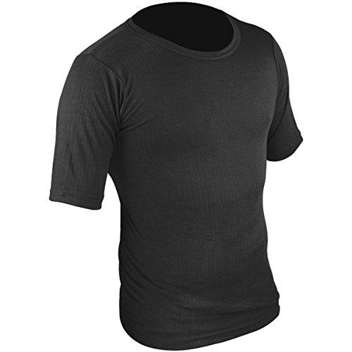 HIGHLANDER T-Shirt Thermique à Manches Courtes pour Homme Baselayer Noir Noir XX-Large