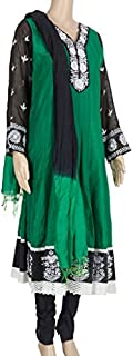 Just Women Beautiful salwar set with contrast colour embroidery