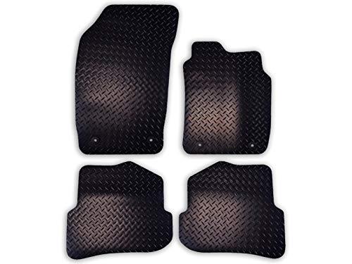 Car Mat Co Tailored Fit 4pc Black Heavy Duty Rubber Floor Mats Car Mat Set...