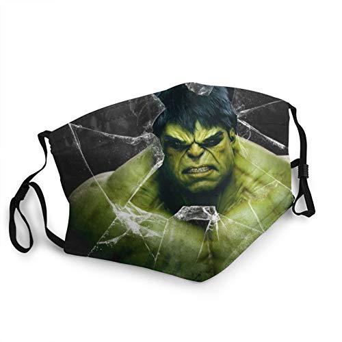 Tailored The Hulk The Avengers - Pañuelo para la boca y la nariz lavable, multifunción, diseño 22D, protector bucal resistente al viento, transpirable, bandana para hombre, mujer y niños