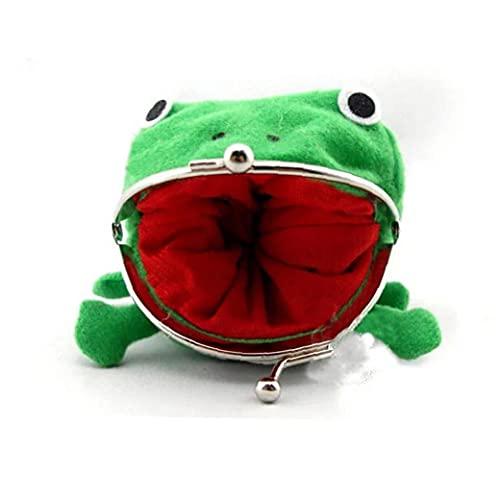 Berrywho Rana de la Moneda del Bolso Encantador de la Felpa del Monedero de la Rana Verde Monedero para los niños Regalo de Las Muchachas