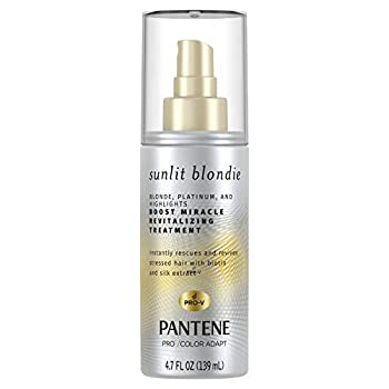 Pantene Sunlit Blondie Miracle Boost Revitalizing Treatment Sulfate Free for Color Treated Hair with Biotin and Silk Extract 4.7 Fl Oz