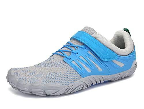 SAGUARO Zapatillas de Barefoot Hombre Zapatillas Deporte Antideslizante Zapatilla Minimalista Mujer Azul Rivere 39 EU