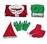 Yuanu Costume Grinch Cosplay di Natale Attrezzatura Puntelli con Camicia Pantaloni Cappello Cintura Guanti Scarpe Adulto Festa Casa Fancy Dress Mostro Verde Abbigliamento Costume Grinch M