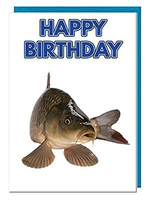 Birthday Card - Carp Fishing Themed - Dad - Husband - Brother - Son - Grandad - Boyfriend from AK Giftshop Ltd