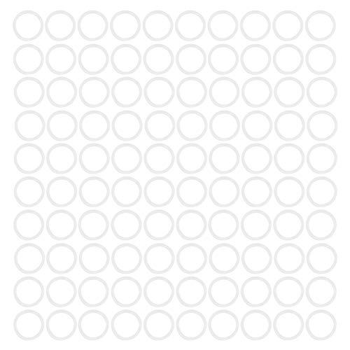 Junta tórica de silicona de 30x3 mm, la resistencia a la tracción puede alcanzar 1500PSI Junta tórica de silicona blanca, rendimiento de aislamiento eléctrico Planchas(31 * 3mm)