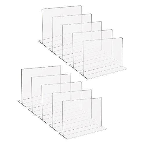 HMF 46923 Acryl Tischaufsteller gerade   10 Stück   DIN A6 Querformat   Glasklar