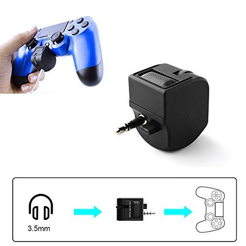 Hosoncovy PS4 VR Headset Control Headset Splitter, 3,5 MM VR Headset Adapter PS4 Audio Adapter Audio Lautstärkeregler Mikrofon Controller für PS4 VR Grip Spielzubehör