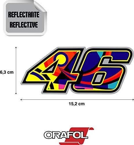 Aufkleber Aufkleber Valentino Rossi 46 Reflektierende Hochwertig 15,2 cm X 6,3 cm 1 Stück