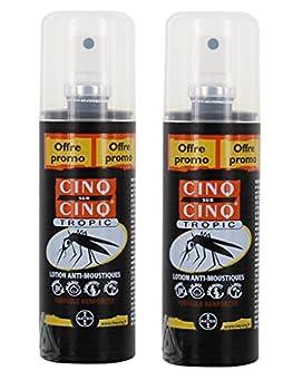 Cinq sur Cinq - Protection contre les Moustiques Spray Tropic 100 ml - Lot de 2 x 100ml