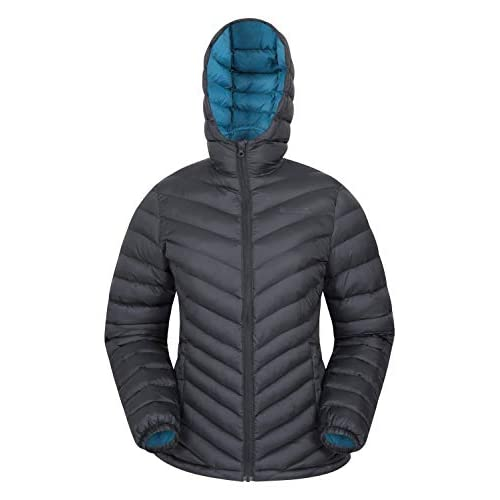 Mountain Warehouse Seasons Womens Padded Winter Jacket – Water Resistant Ladies Coat, Warm, Front Pockets, Adjustable Elastic Cuffs & Hood – for Holidays, Travelling