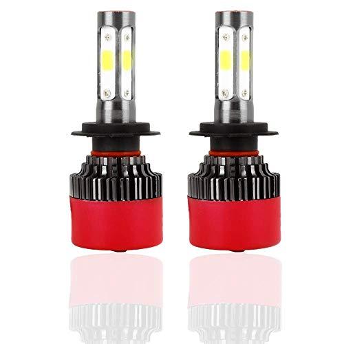 Faro LED Akozon Bombillas Faros Delanteros EV16 H7 2800LM 6000K Luz blanca fría 360 grados IP67