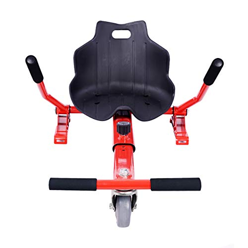 ULIKEIT Hoverboard Seat Attachment Go Kart Safty Scooter Accessories for Kids Fits 6.5'/8'/10' Hoverboards (Red)