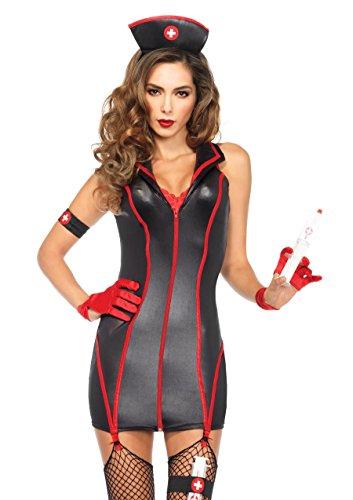 Leg Avenue 85402 - hart stopin 'RN dames kostuum Large (EUR 40) zwart, rood
