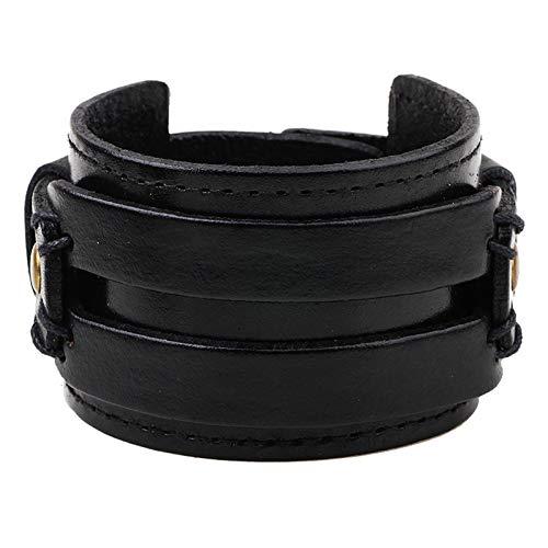 Armband Ubeauty Brede Lederen Wrap Armband En Touw Bangles Voor Retro Man Armbanden Unisex Voor Vrouwen Mannen Sieraden Bedel Punk Armband
