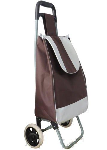 Nuovo pieghevole leggero festival Grocery shopping borsa trolley con ruote–marrone