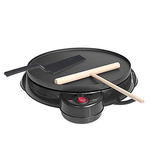 NBRTT Electric Crepe Maker, Nonstick Pancakes and Portable Pan, Compact, Easy Clean with Batter Spreader Spatula, for Blintzes, Eggs, Precise Temperatu