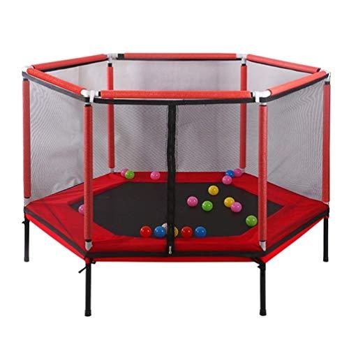 Wtbew-U Trampoline Peuter Kindertrampoline Met Guardrail, Verhoogde Elasticiteit Veilig Springbed Met Beschermend Net Tuinspel