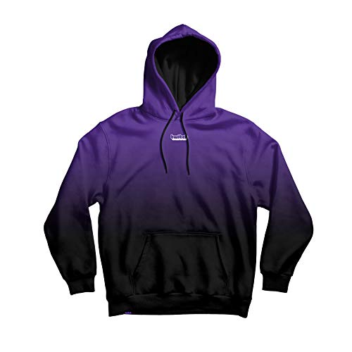 Twitch Dip Dye Pullover Hoodie with Durable Drawstrings and Fashionable Design for Online Live Video Streamers and Gamers – Purple (Medium)