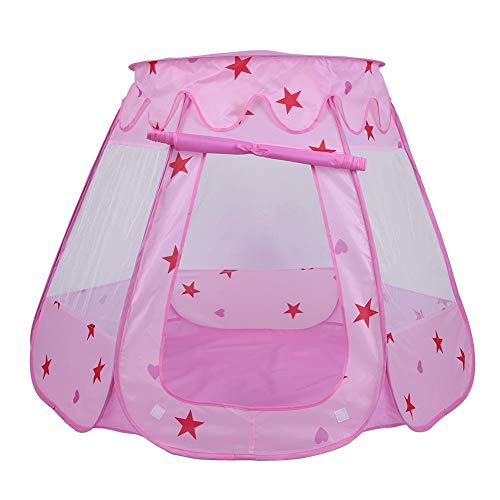 Opvouwbare Kid Play Tent, Outdoor Indoor Kid Kinderen Game House Tent Playhouse Portable Toy Verjaardagscadeau(ROZE)