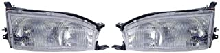 Go-Parts - PAIR/SET - OE Replacement for 1992-1994 Toyota Camry Front Headlights Headlamps Assemblies Front Housing/Lens/Cover - Left & Right (Driver & Passenger) Side TO2503105 TO2502105