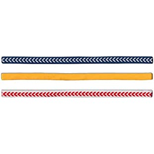 55 Sport Unisex Slim Elastic Headbands - 3 Pack (Chevron Pack)