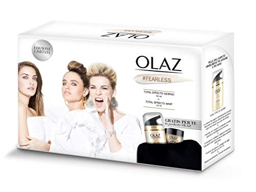 Olaz Total Effects Cofanetto Regalo contiene Olaz TE 7in1 Crema Anti-Età SPF 15, 50 ml e Olaz TE Whip, 15 ml, Idee Regalo Donna Natale 2020