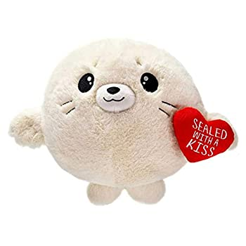 Fiesta Toys Sealed with a Kiss Seal Gumball Plush Toy - Valentine s Day Cutie Beans Stuffed Animal Toy