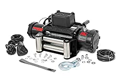 top 10 8000 lb winch Rough Country Electric Winch PRO Series 9,500 lbs | 100ft Steel Cable | Fairleader | Clevis Hook |…