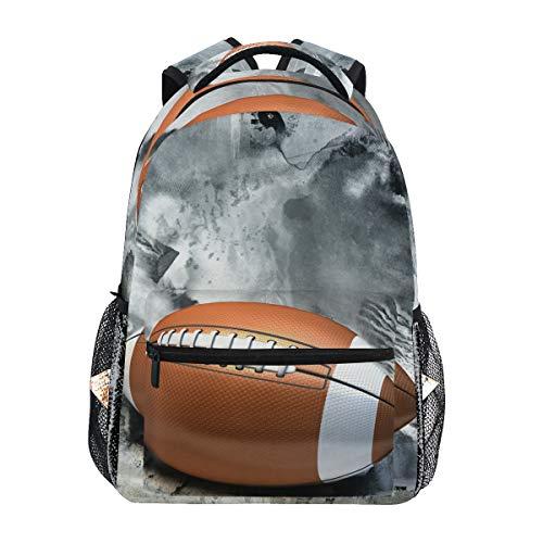 American Football Schulrucksack für Jungen Mädchen Kinder Reisetasche Bookbag