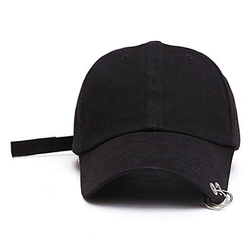 A hut baseball cap with rings bts jimin hat bts suga cap BTS LIVE THE WINGS TOUR kpop bts cap Iron Ring Hats Baseball cap 100% handmad