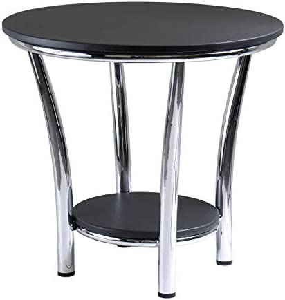 Best Winsome Wood Maya Occasional Table, Black/Metal