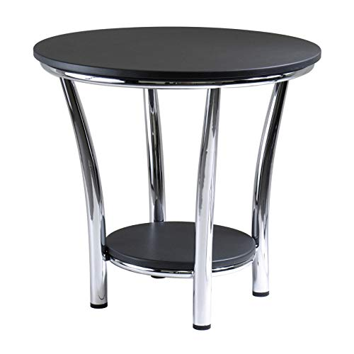 Winsome Wood Maya Occasional Table, Black/Metal