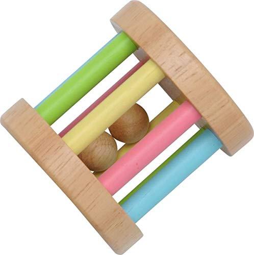 木のおもちゃ知育玩具ラトルがらがらKOROKOROラトルパステル歯固めおしゃぶり出産祝いプレゼント音遊び安心安全舐めても安心0歳1歳Eduteエデュテ
