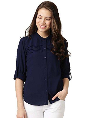 J B Fashion Women's Plain Regular fit Top (fmania-W1125_Navy Blue Medium)