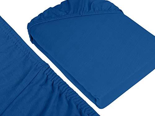 #13 npluseins Kinder-Spannbettlaken, Spannbetttuch, Bettlaken, 70×140 cm, Royalblau - 3