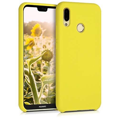 kwmobile Funda Compatible con Huawei P20 Lite - Funda Carcasa de TPU para móvil - Cover Trasero en Amarillo Pastel Mate