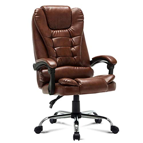 N/Z Daily Equipment Office Chair High Swivel Executive Chair with Adjustable Height Head 3D Arm Rest Lumbar Support and Upholstered Back for Home Desk Chairs A
