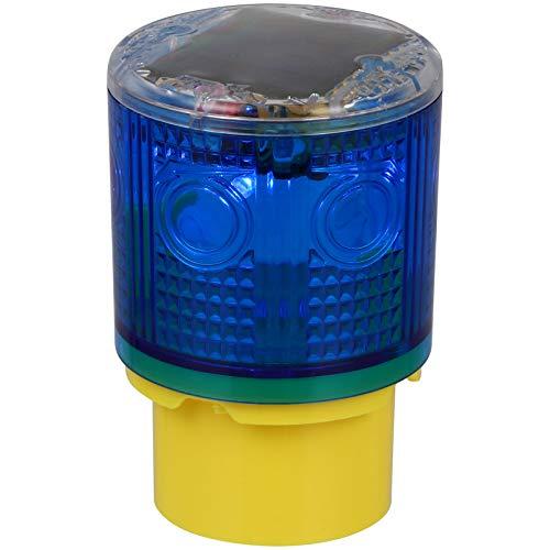VILLCASE Luz Estroboscópica Solar Advertencia Luz Intermitente de Seguridad Luz Estroboscópica de Techo para Construcción Tráfico Fábrica Grúa Torre Barco Navegación Azul