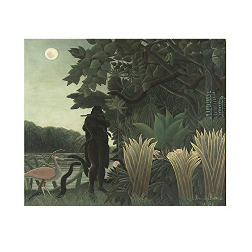 N / A Landscape Oil Painting Nature Tree Snake And Moon Canvas Painting Mural for Living Room Home Decoration Frameless 70x90CM